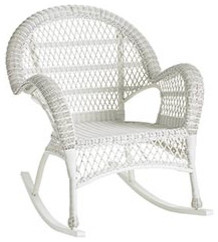 White Outdoor Wicker Rocker - Traditional - Rocking Chairs - by Pier 1 Imports