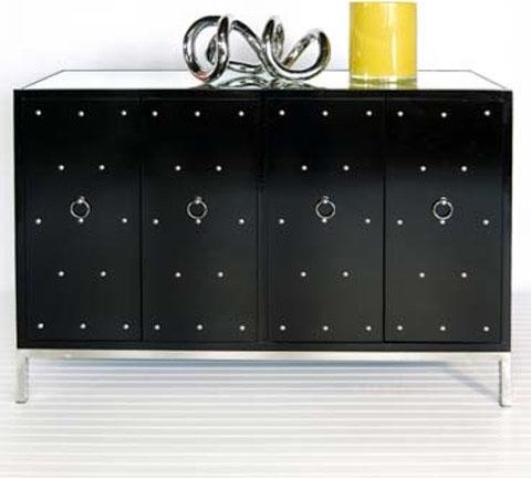 Worlds Away Buffet With Nickel Studs And Base contemporary-buffets-and-sideboards