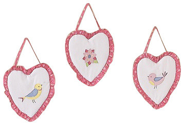 Song Bird 3-Piece Wall Decor by Sweet Jojo Designs traditional-kids-decor