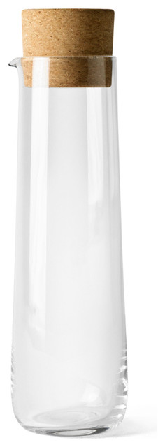 Water Carafe with Cork Lid contemporary
