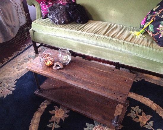 Reclaimed Wood Coffee Table - Reclaimed Things, photo courtesy Gina Faiola