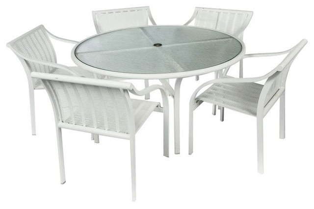 SOLD OUT! Tropitone Aluminum White Outdoor Dining Set