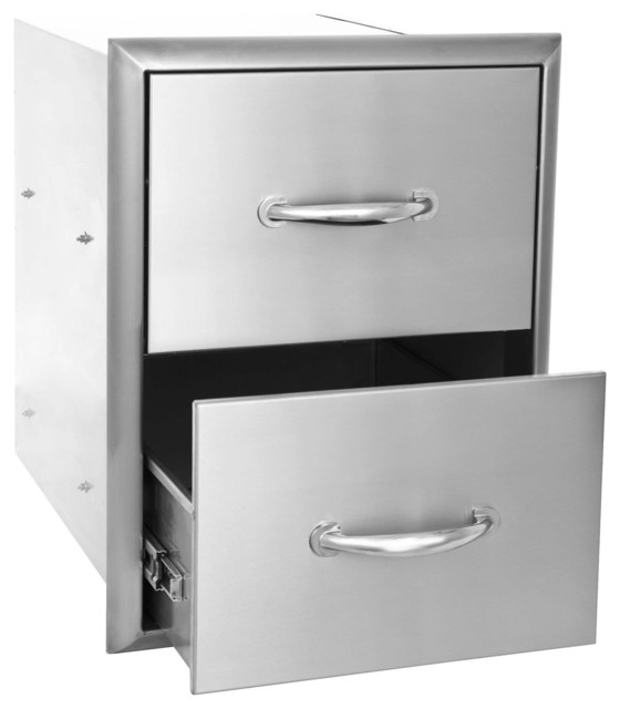 Blaze Built-in Double Drawer for Outdoor Kitchens modern-outdoor-products