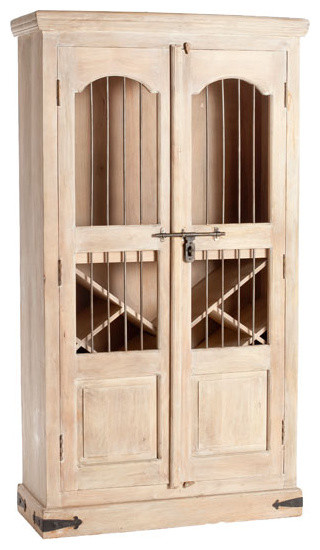 Napa Trails Wine Cupboard - Natural traditional wine racks