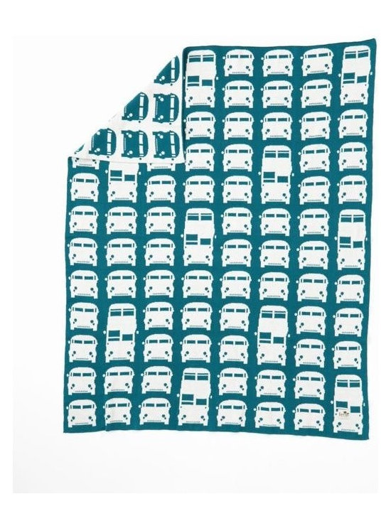 Ferm Living Rush Hour Blanket - The perfect way to keep your baby warm is the Knitted Blanket by Ferm Living.  Made of 100% cotton, the jacquard knit inverts the colors, so each side looks different.
