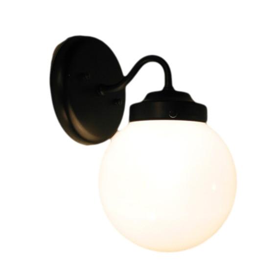 Vanity Light Milk Glass : Tina Isle Milk Glass Sconce, Antique Black - Modern - Bathroom Vanity Lighting - by The Lamp Goods