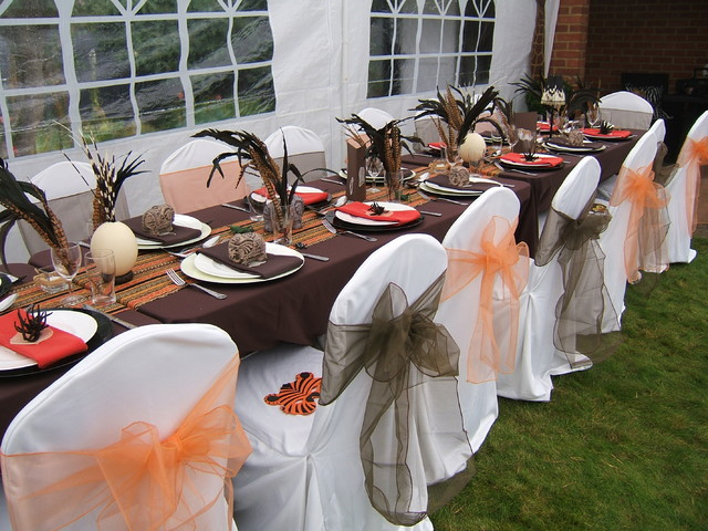 African themed summer party in the garden - Tropical - london