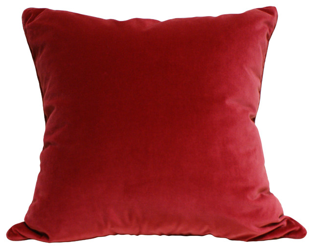 Decorative Pillows Raleigh Nc : Red Velvet Pillow - Eclectic - Pillows - raleigh - by Eatman s Carpets & Interiors
