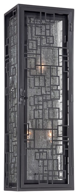 Art deco john timberland squares 24 high bronze outdoor for Art deco porch light