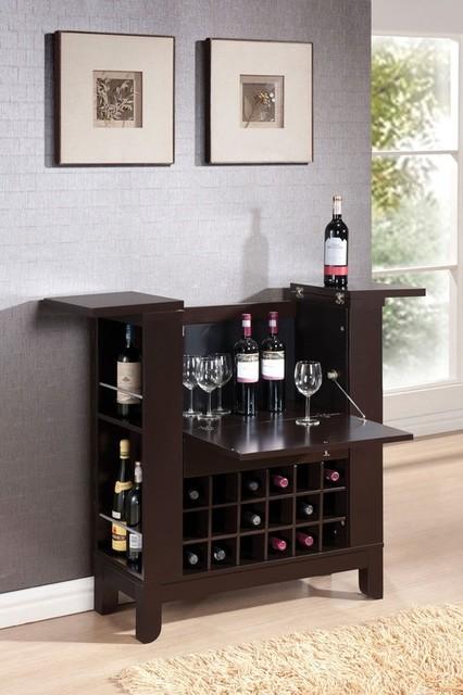 Acme Furniture Nelson Wenge Finish Wine Bar 97010