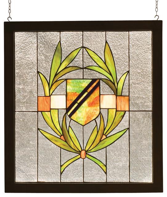 meyda shield wood framed window x 79089