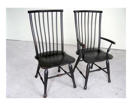 Black Forest Style Dining Chair - Made by http://www.ecustomfinishes.com
