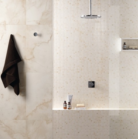 Marble Way traditional bathroom tile