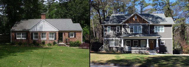 Second story additions traditional atlanta by for Second floor addition before and after