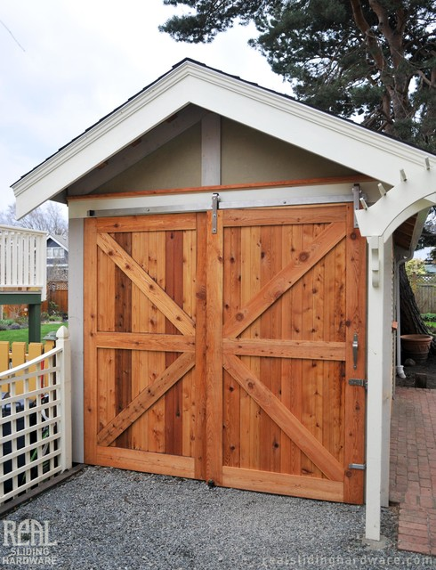 Barn Door Installations Rustic Garage And Shed Vancouver By Real Slid