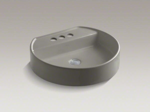 """KOHLER Chord(R) Wading Pool(R) bathroom sink with 4"""" centerset faucet holes contemporary-bathroom-sinks"""