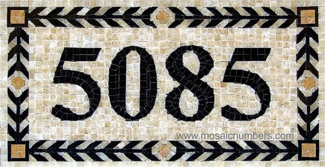 Mosaic House Numbers / Athens – H1P craftsman-house-numbers