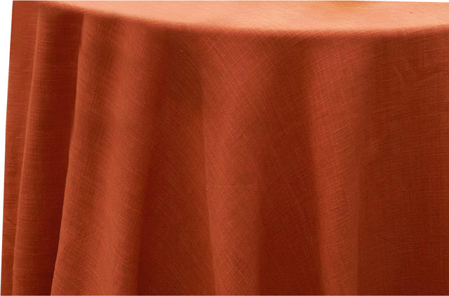 """Hemstitch Tablecloth, Burnt Orange, Rectangle, 70""""x128"""" traditional-tablecloths"""