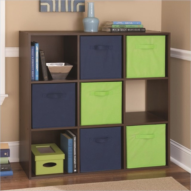 Ameriwood 9 Cube Storage in Resort Cherry - Transitional - Storage And Organization - by Cymax