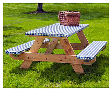 Elasticized Picnic Table Cover Set - contemporary - outdoor tables