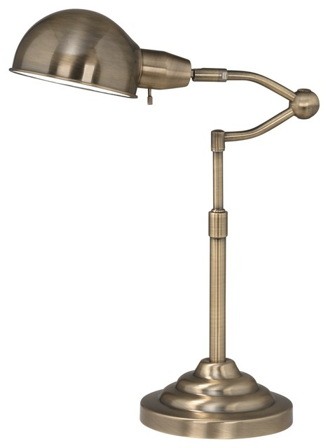 ott lite ashley antique brass adjustable desk lamp traditional table. Black Bedroom Furniture Sets. Home Design Ideas