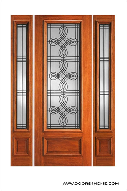 Ir iron insulated entry doors model 733 mediterranean for Insulated entry door