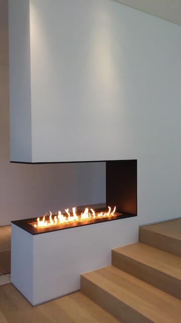 custom built construction mlambert inc linear gas fireplace