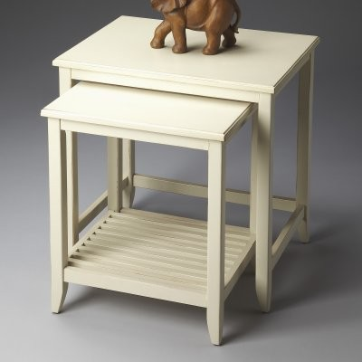 Butler Nesting Tables - Cottage White modern-side-tables-and-end-tables