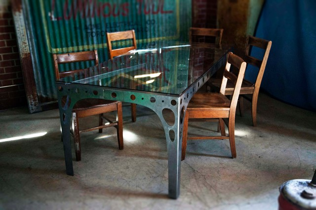 PK10 Dinig Table industrial-dining-tables