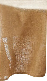 """Burlap Tablecloth, Natural, Round, 90"""" traditional-tablecloths"""