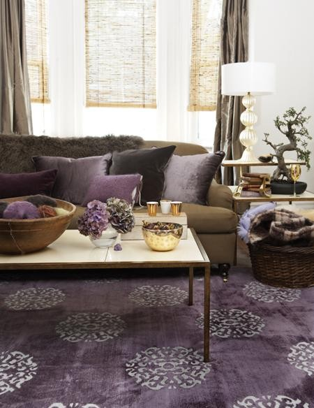 purple in the room contemporary 