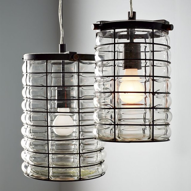 Linear Blown Glass Pendant contemporary pendant lighting