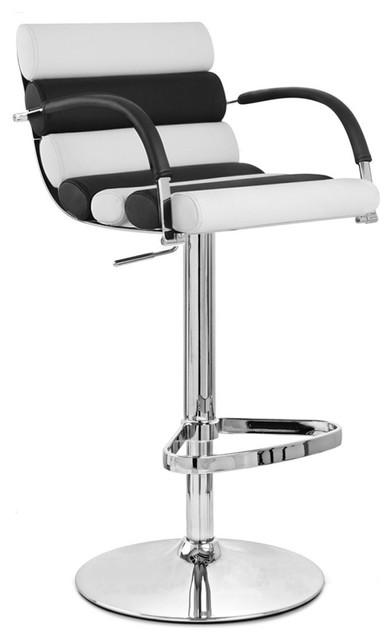 Black and White Ego Bar Stool Chrome Base Contemporary  : contemporary bar stools and counter stools from www.houzz.com size 392 x 640 jpeg 29kB