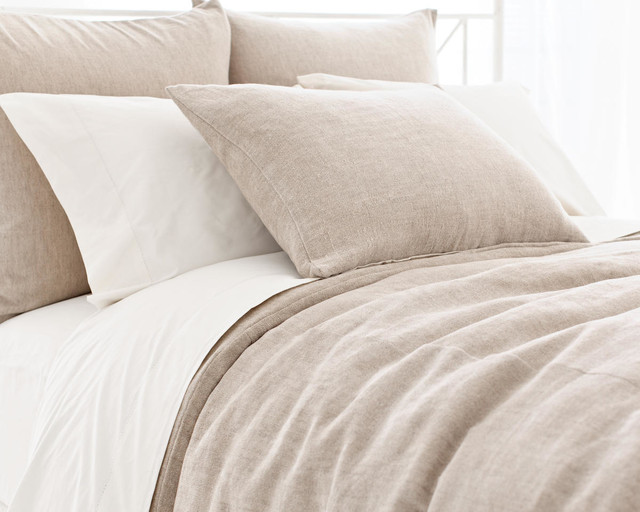 Linen Chenille Natural Duvet Cover - Traditional - Duvet Covers And Duvet Sets - by Pine Cone Hill