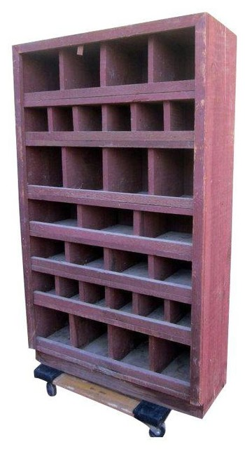 ... Wood Primitive Seed Farm Cabinet industrial-storage-units-and-cabinets