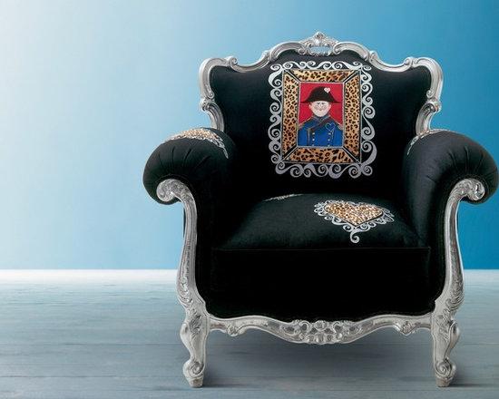 Alice armchair Creazioni - ALICE silver and black Armchair Creazioni from £2,450. Ships worldwide. Email ilive@imagine-living.com