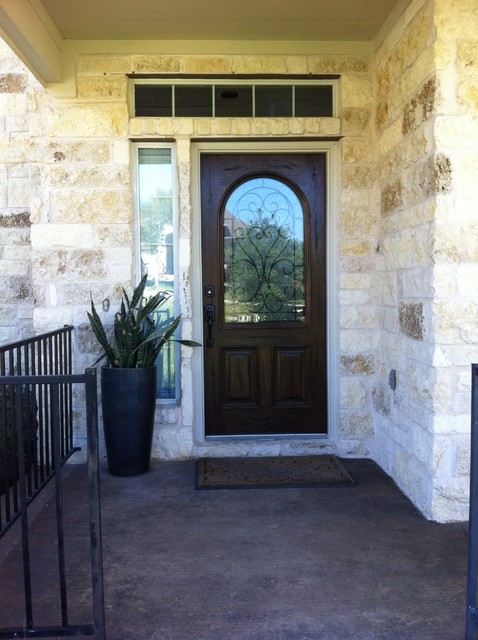Mahogany front entry door with insulated iron for Insulated front entry doors