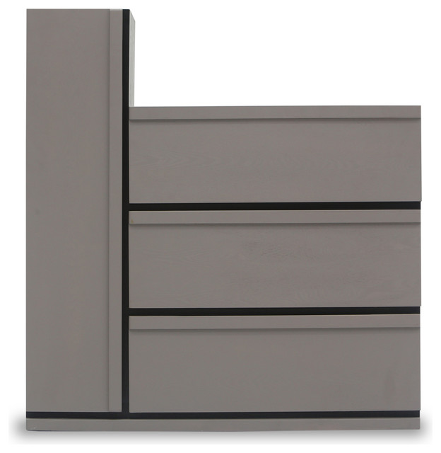 Lan 3 Drawers + 1 Tall Cabinet Storage Unit - Modern - Storage Cabinets