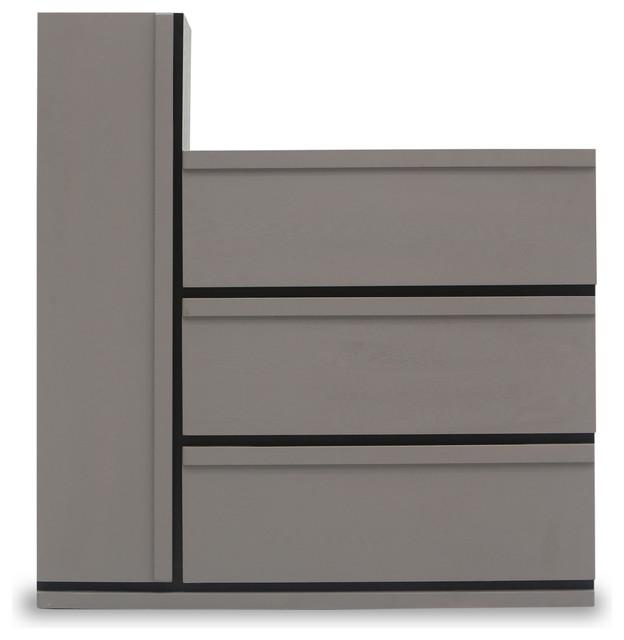 Lan 3 Drawers + 1 Tall Cabinet Storage Unit - Modern ...