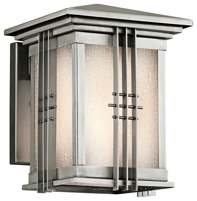 """Contemporary Portman Square Stainless Steel 8"""" High"""