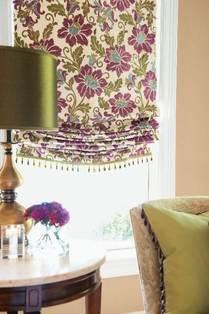 Custom Window Treatments contemporary-roman-shades