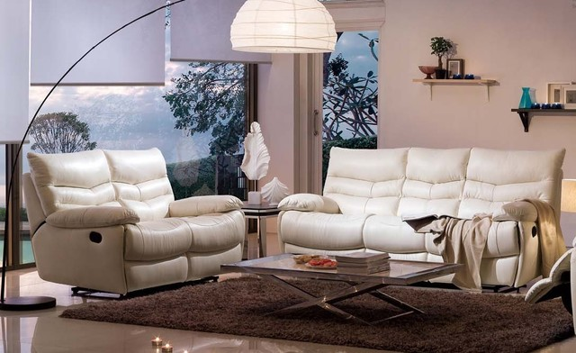 Nicola Italian Leather Reclining Sofa Set  sofas