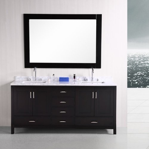 "London 72"" Double Sink Vanity Set in Espresso modern-bathroom-vanities-and-sink-consoles"