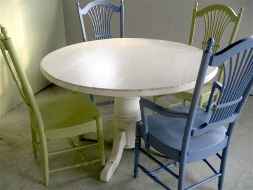 4 ft Round Kitchen Table With Empire Base farmhouse-dining-tables