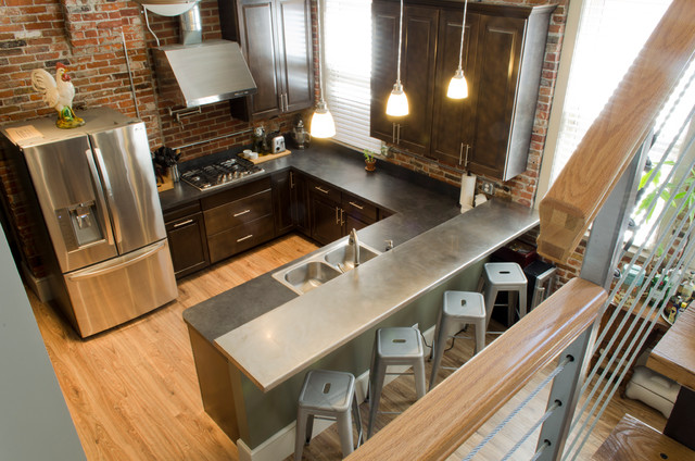 Industrial home kitchen home design and decor reviews Industrial design kitchen ideas