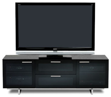 Avion Noir II Media Center with Freestanding TV Cabinet contemporary-entertainment-centers-and-tv-stands