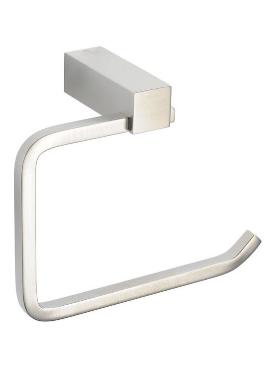 Fresca - Fresca Ottimo Toilet Paper Holder - All of our Fresca bathroom accessories are made with brass with a triple brushed nickel finish and have been chosen to compliment our other line of products including our vanities, faucets, shower panels and toilets. They are imported and selected for their modern, cutting edge designs.