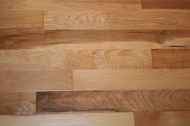 Hickory natural hand scraped solid engineered wood floor for Floating engineered wood flooring