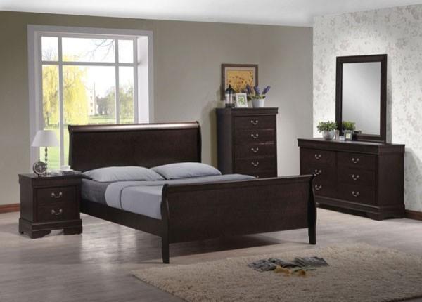 Acme Furniture - Louis Philippe IV Dark Brown 5 Piece King ...