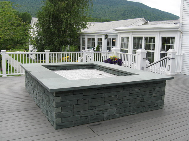 Slate Sculping Fireplace Surround fire-pits